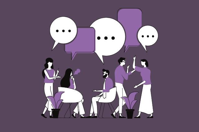People chatting.