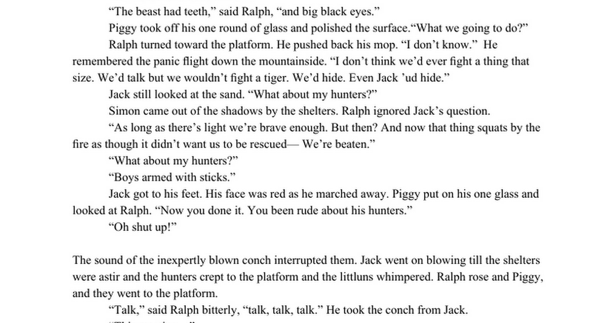 Leadership Quotes Of Ralph In Lord Of The Flies Xsonarbase