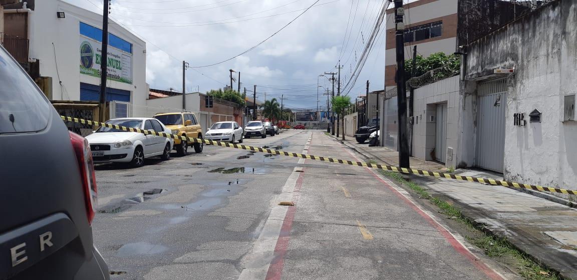Área isolada após explosão na empresa White Martins