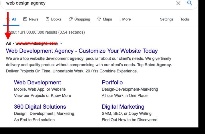 Google ranks a website