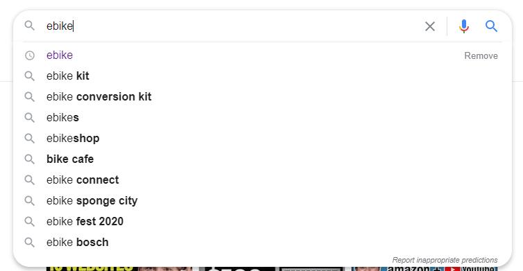 Fonctionnalité Google AutoFill.