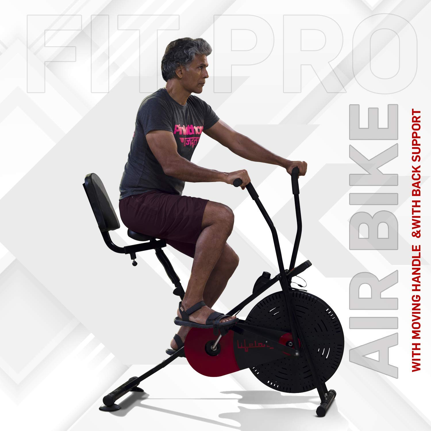 Lifelong Fit Lite Pro Airbike Exercise Machine (LLF90)