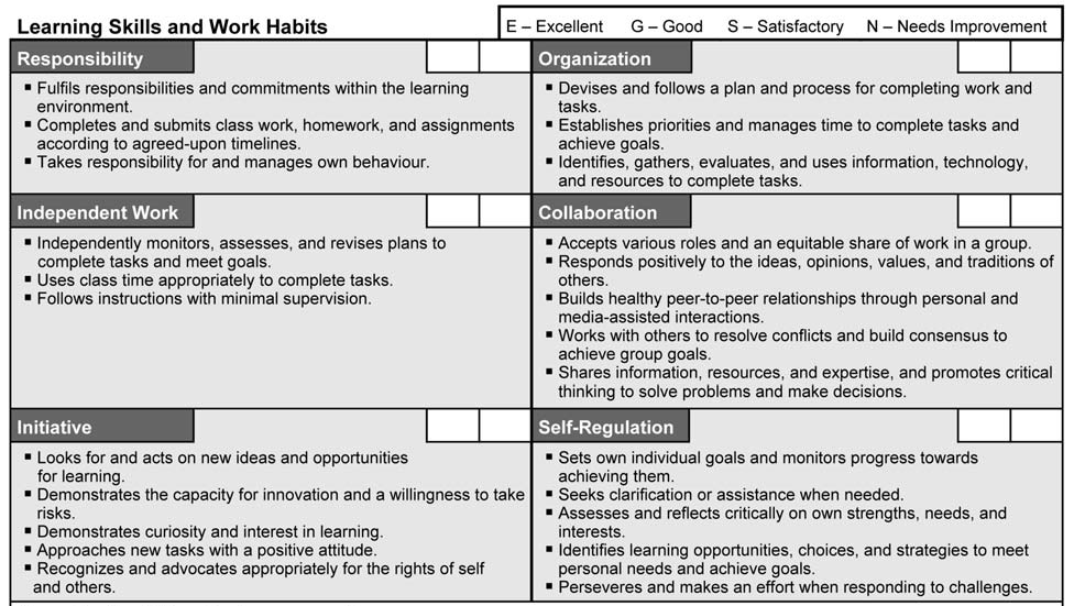Image result for learning skills and work habits