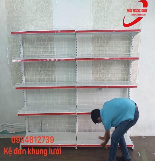 Lắp đặt kệ siêu thị thực tế