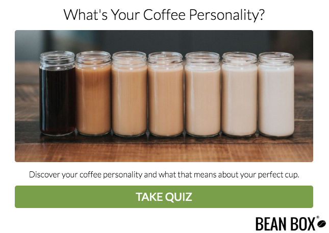 quiz cover for coffee personality quiz
