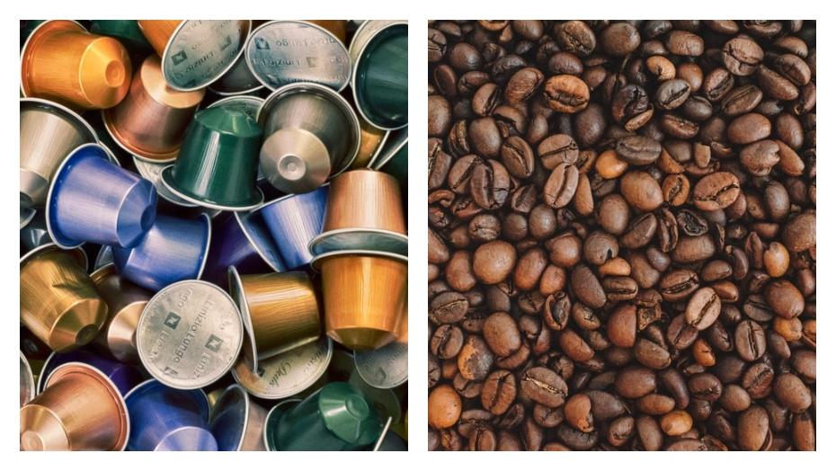 Kafijas kapsulas vai pupiņas?