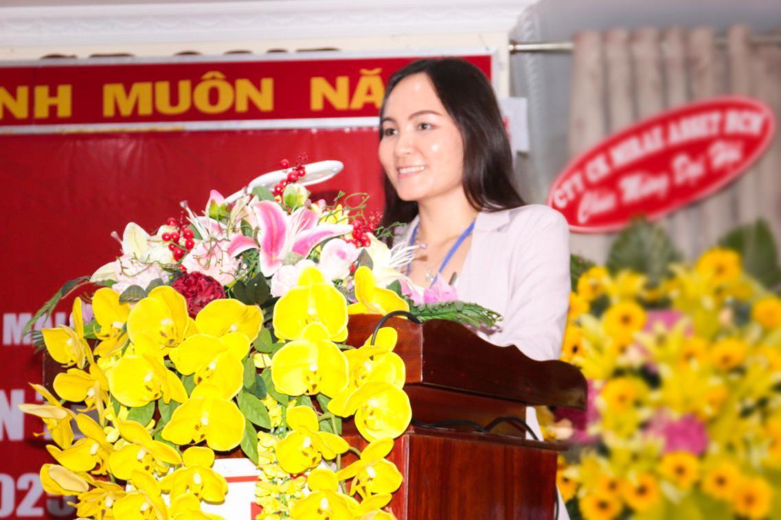 1. Bà Lê Thị Nguyệt Thu - Chủ tịch Tập đoàn Sao Mai kiên định đưa Sao Mai tăng trưởng mới.