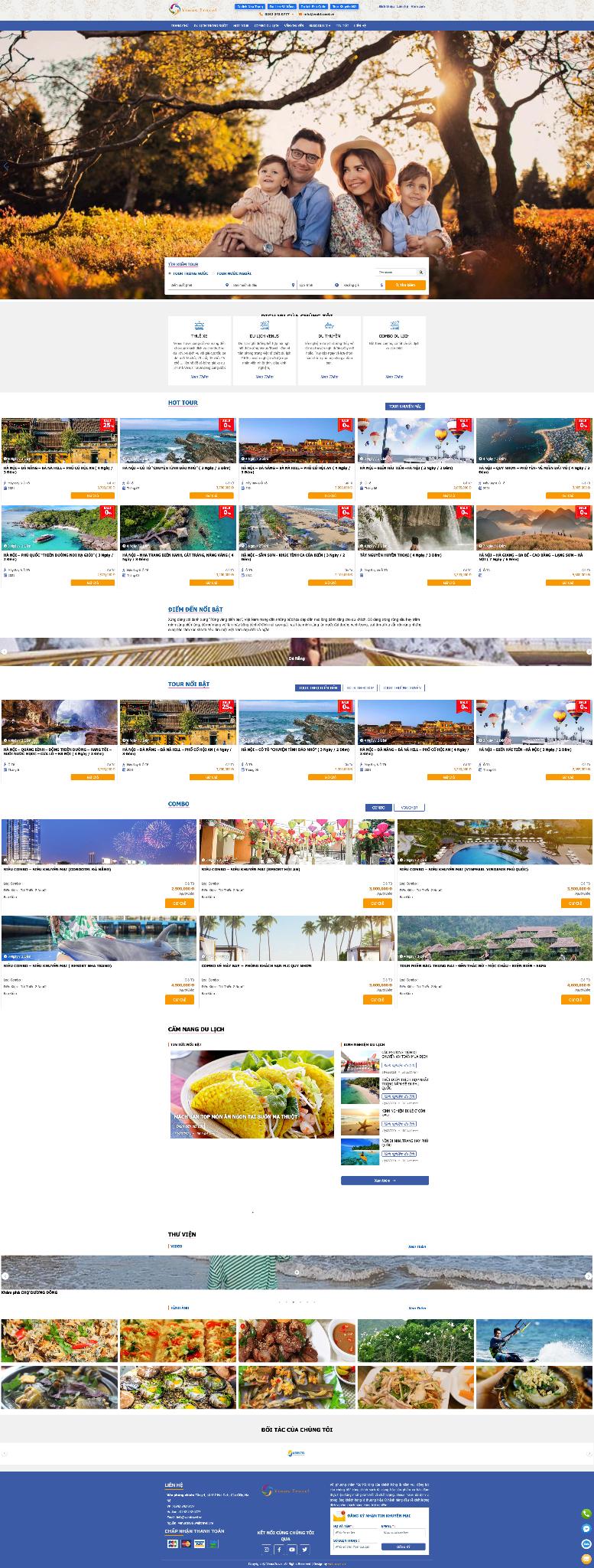Mẫu website du lịch 4