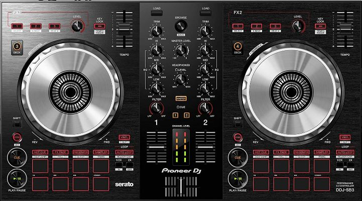 Pioneer DDJ-SB – Best Cheap Digital DJ Controller For Beginners Under 300 Dollars