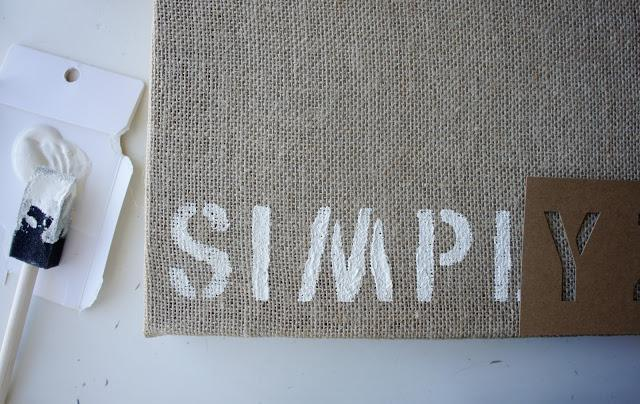 Live Simply burlap canvas diy with materials purchased from Target inspired by Glade