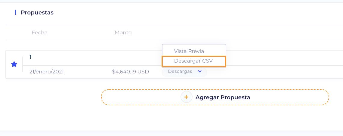 imagen sunwise descarga de CSV