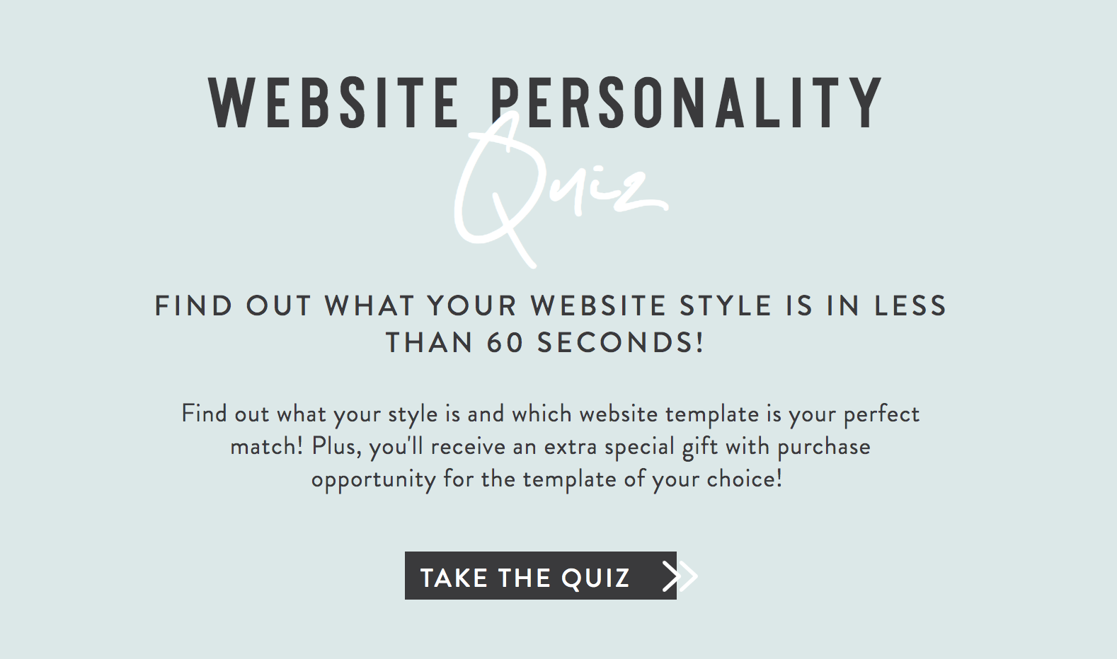 Website personality quiz cover