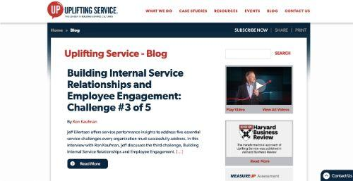 A screenshot of @upyourservice's blog