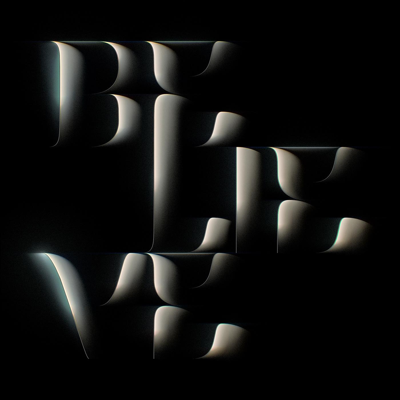 abstract black dark font light night Shades shadow Sharp typography