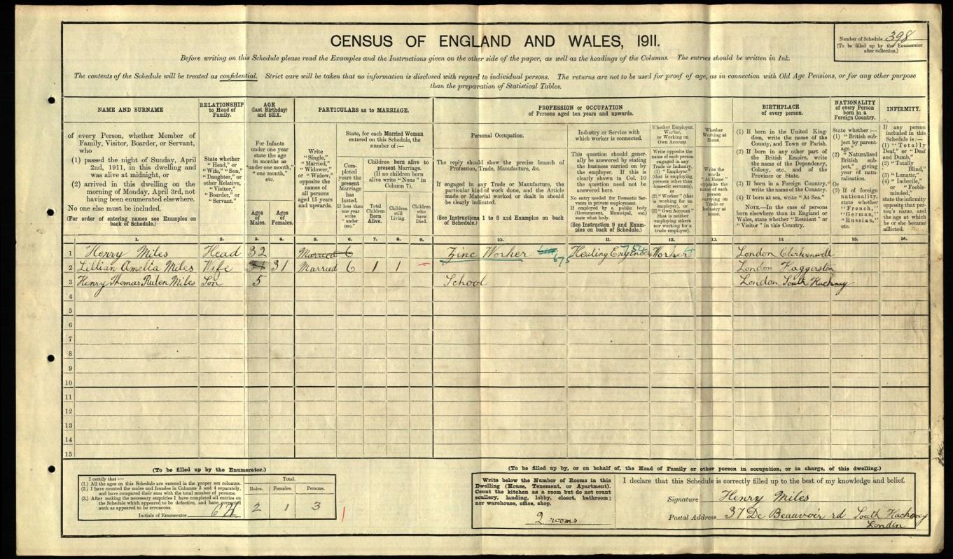 C:\Users\Main user\Documents\Ancestry\Dadaji\Dadaji's Relatives\1911 Census Original - Miles Family.jpg
