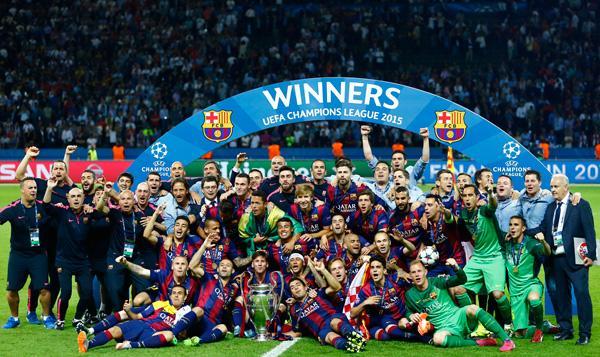 바르셀로나 챔피언스리그 트레블에 대한 이미지 검색결과