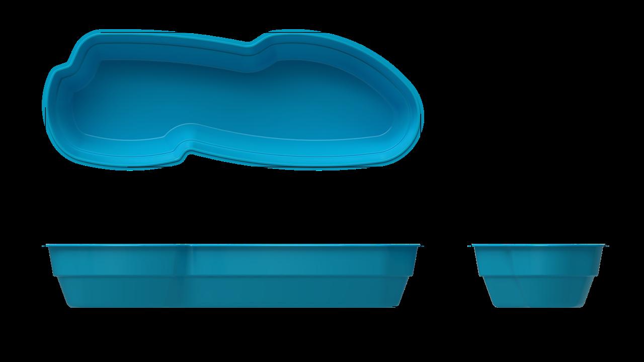 Пример параметров акриловых бассейнов