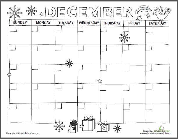 December Super Teacher Calendar | Calendar Template 2016