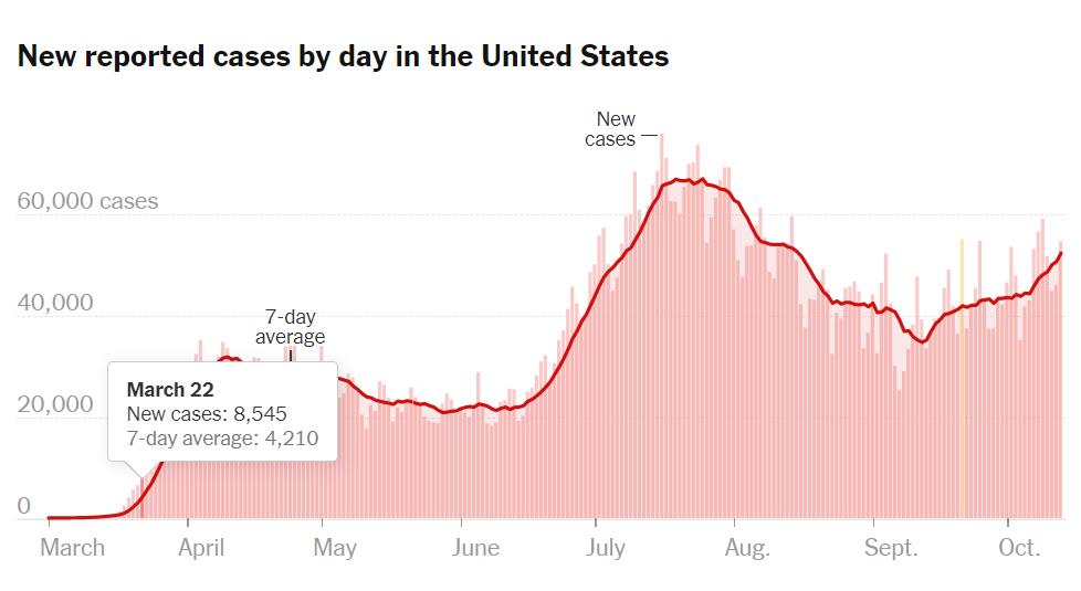 USA COVID-19 pandemic statistics