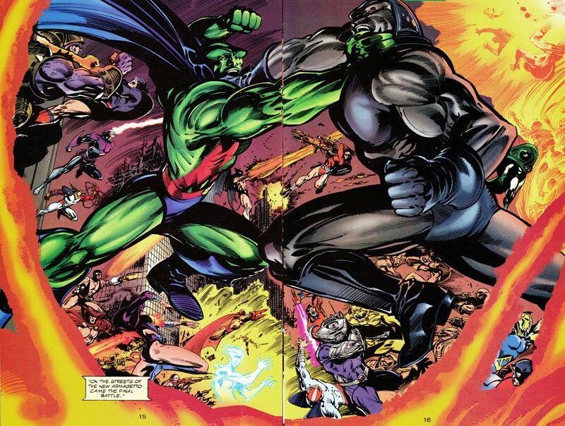 Martian Manhunter vs Darkseid by Tom Mandrake | Darkseid, Martian manhunter,  Comics