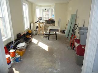 File:Kitchen renovation living room transformed into workshop.JPG