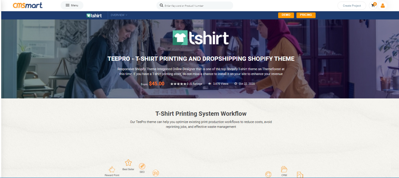 TEEPRO - Best free shopify theme for dropshipping