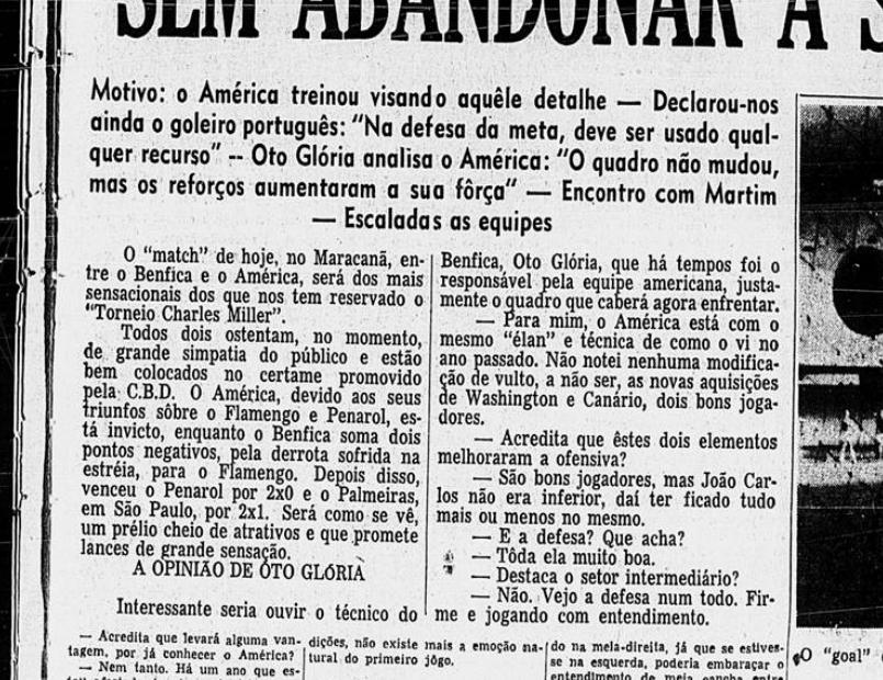 Entre os maiores públicos de times brasileiros contra times estrangeiros, o América está na frente do Flamengo.