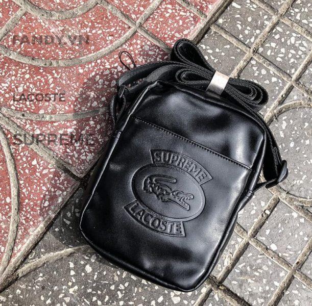 Túi đeo chéo Lacoste Black