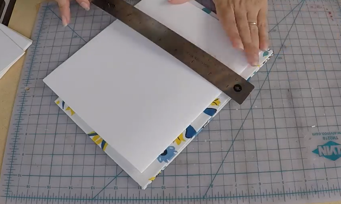 paper with ruler