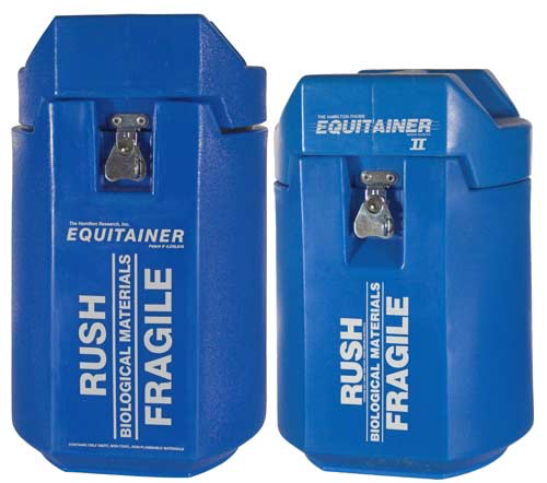 The Equitainer can be used also for chilled dog semen and has a holding time of 72 hours.