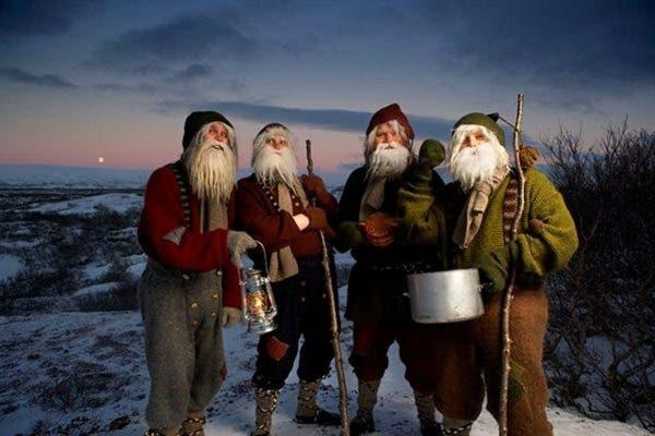 Trols Yule en Navidad en Islandia