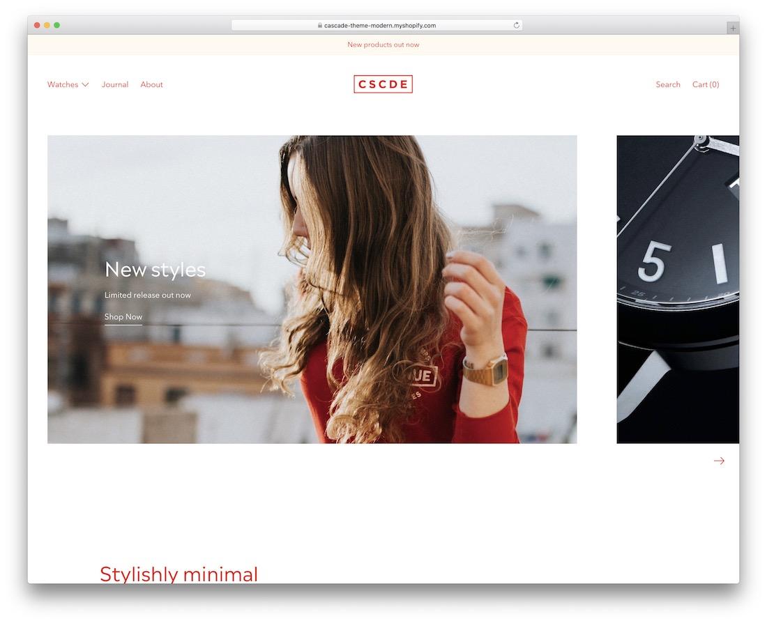 Shopify jewelry themes Cascade