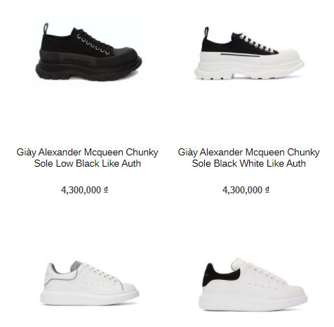 Shop giày Swagger cung cấp các loại giày  Like Authentic uy tín, chất lượng