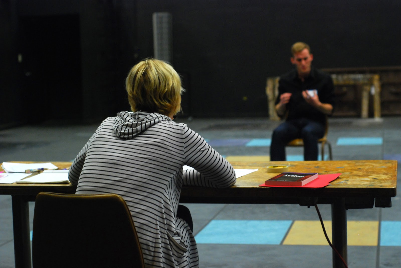 Photo of an acting workshop