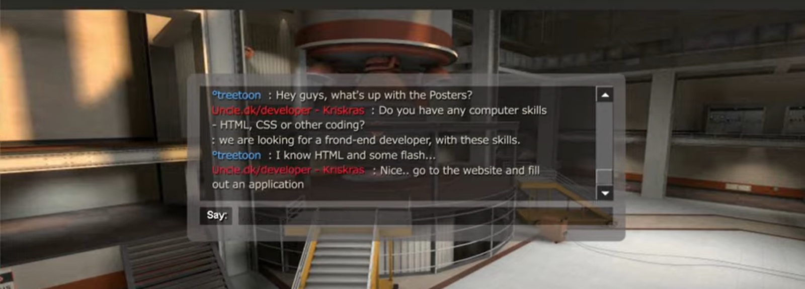 Job opportunities in Team Fortress