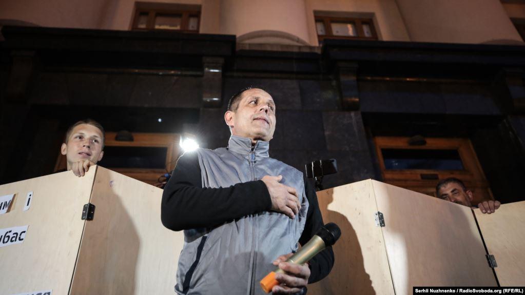 Підтримати акцію прийшов і колишній політв'язень Кремля Володимир Балух