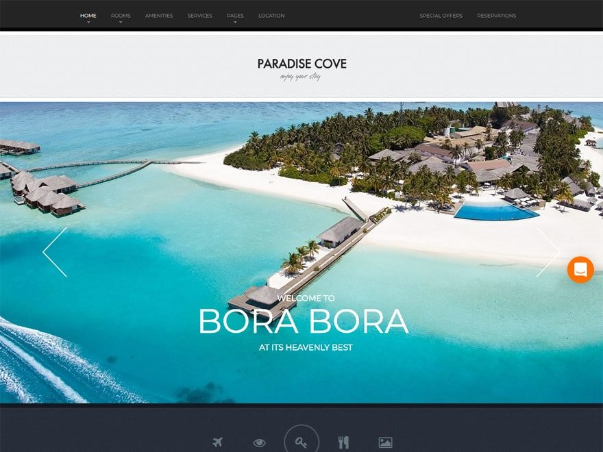 Paradise Cove - WordPress Hotel and Resort Themes