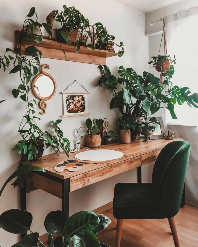 boho aesthetic office