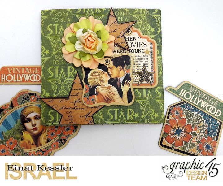 One Page Wonder Mini Album, by Einat Kessler, Vintage Hollywood, Product by Graphic 45, photo 7.jpg
