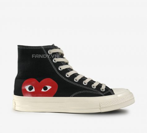 Converse X CDG High Black/ White