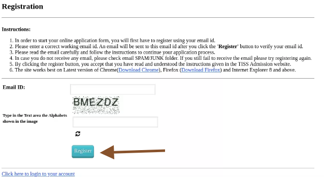 TISS BAT 2021 Registration