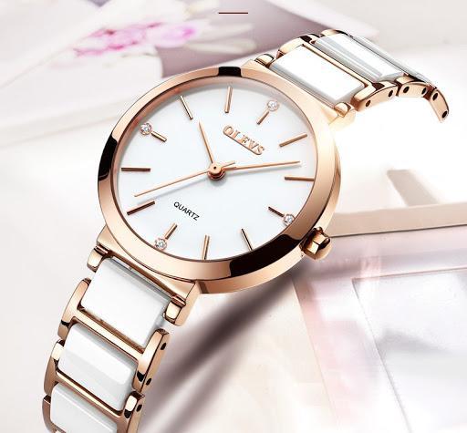 Đồng hồ nữ cao cấp chính hãng OLEVS chống nước chống xước - THT