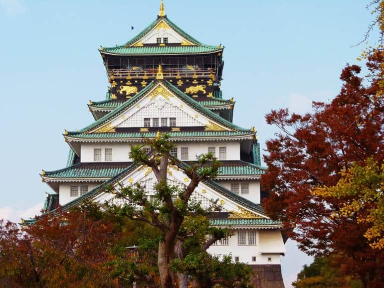 osaka castle autumn