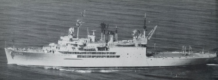 USS Norton Sound, from The Horned Shellback, 1958 Cruise