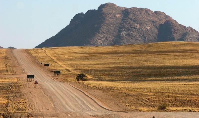 gravel roads in Namibia