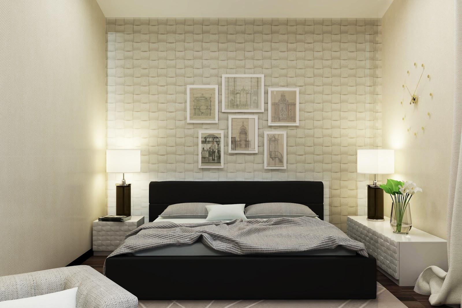Дизайн стены над кроватью в спальне