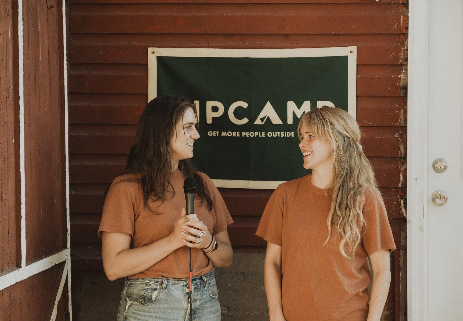 Alyssa Ravasio founder of Hipcamp on the left