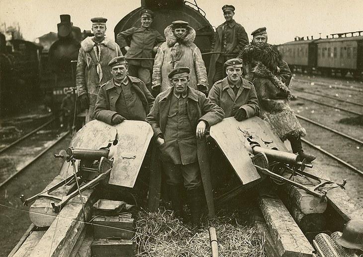 Охорона залізниць німецькими вояками. Осінь 1918 рік