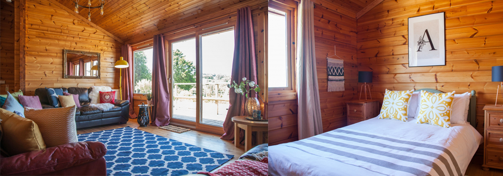 Stunning lodges at Lower Campscott.