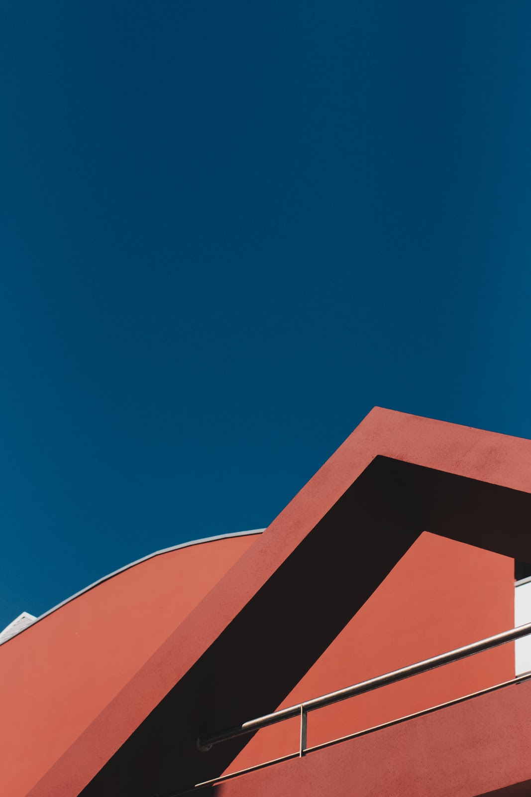 abstract image of a red house